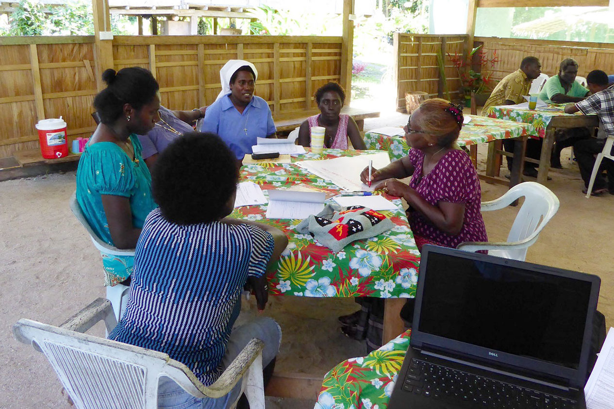 Women Human Rights Defenders during an assessment and planning workshop in April 2016. Photo by Elena Leddra/IWDA.